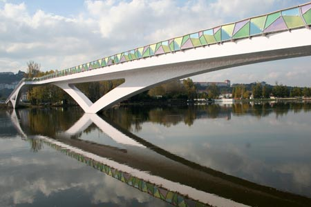 Coimbra Footbridge, Portugal, 2006, Photo: Cecil Balmond, Design: Cecil Balmond / AGU, ©Arup