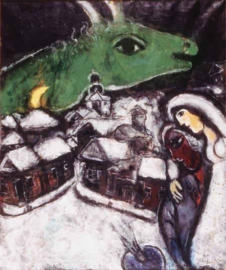 bryllup ved eiffeltårnet chagall maleri