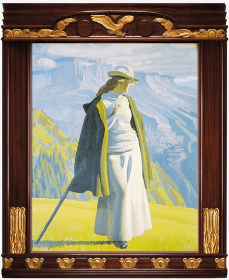 En bjergbestigerske 1904 206 x 169 cm olie på lærred g a