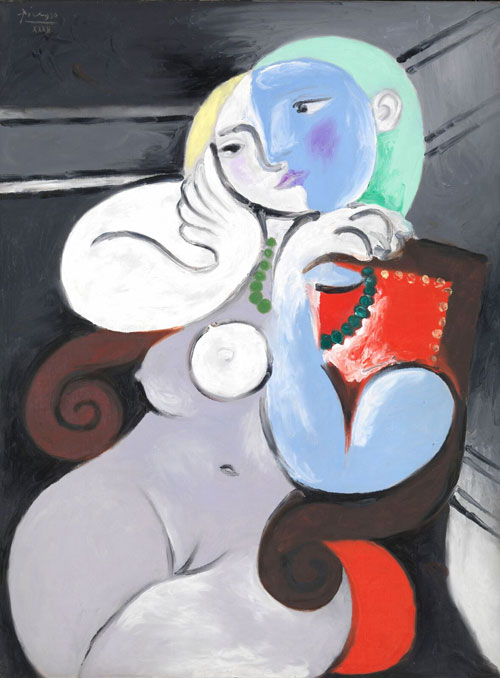 Picasso nude woman in Red Armchair.