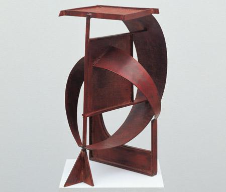Robert Jacobsen, Esope / Æsop, 1954, Jern, malet rustrød. Højde: 58 cm., Sammlung Würth