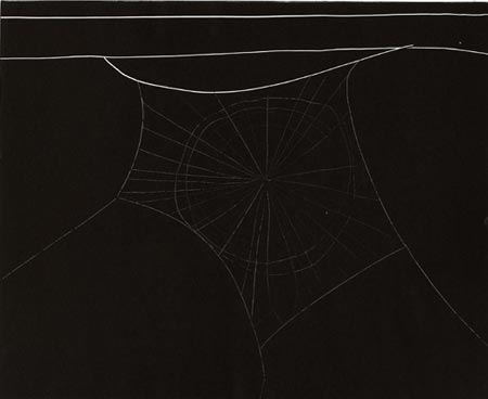Arachnes Web (Untitled 29), 2006. Monotypi, 50x66 cm, Courtesy Martin Asbæk Projects, Foto: Anders Sune Berg