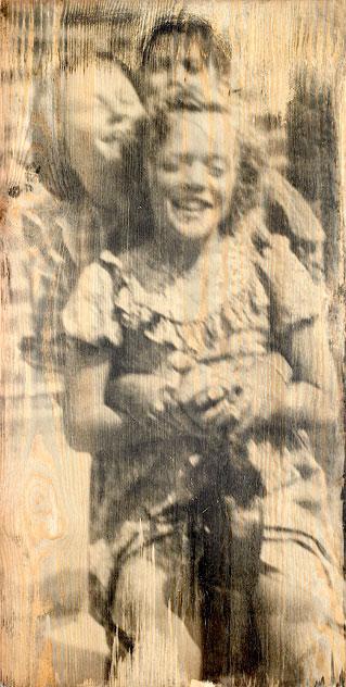 Sommer, 2005. Fotoemulsion på træ, 110 x 55 cm.