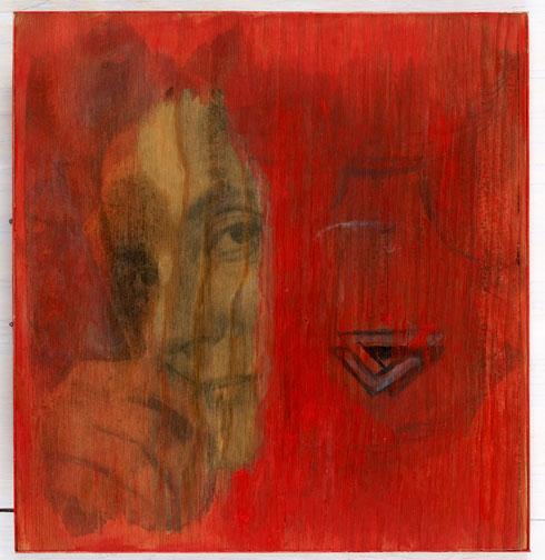 Floden, 2003. Fotoemulsion og gouache, 35 x 35 cm.