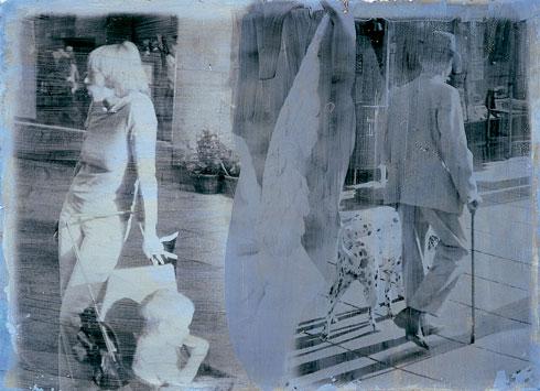 Prag, 2008. Fotoemulsion og gouache, 45 x 70 cm.