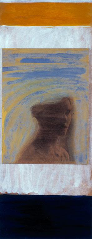 Veronica, 2003. Fotoemulsion og acryl, 110 x 45 cm.