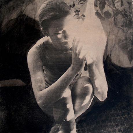 Lys, 2006. Fotoemulsion på træ, 110 x 110 cm.
